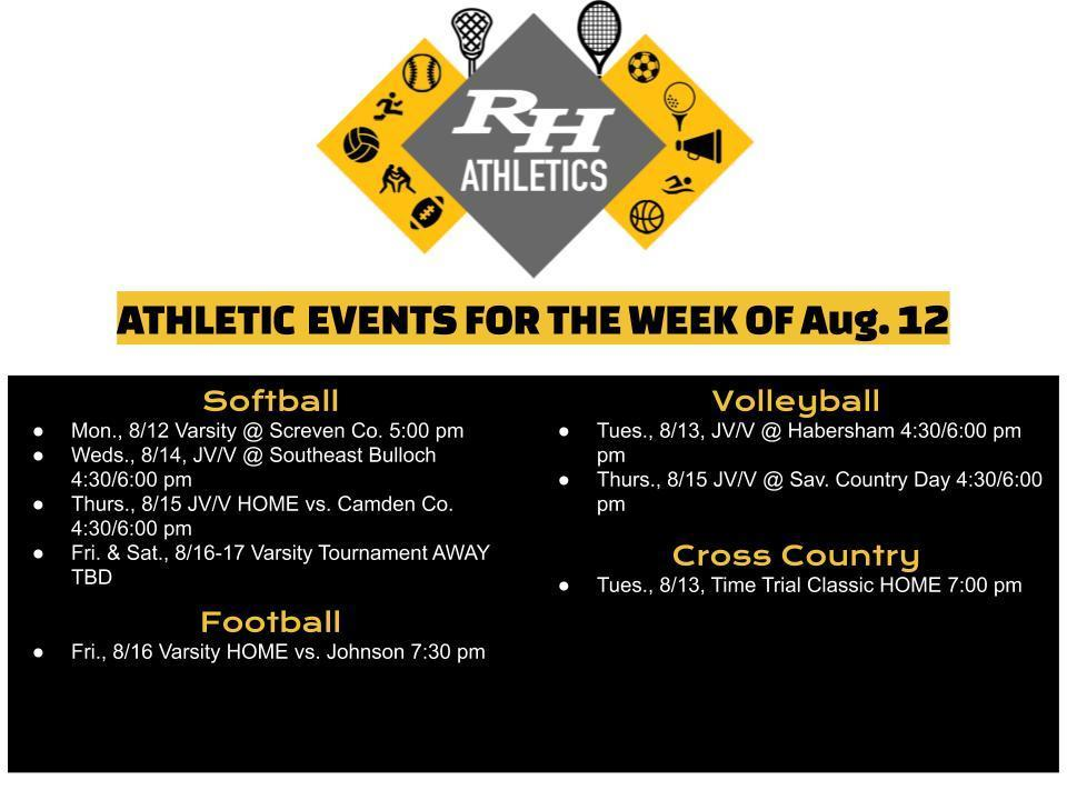 RHHS Athletics Week of Aug. 12