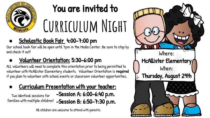 MES Curriculum Night