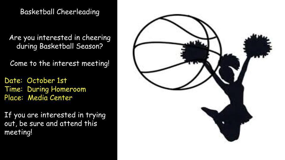 Oct. 1 Basketball Cheerleading Meeting
