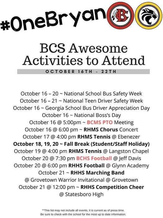 Awesome Activities 10-15-17