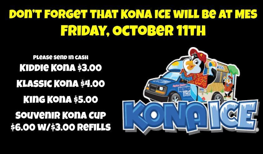 Kona Ice is Coming Friday, October 11th