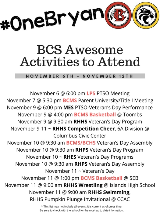 Awesome Activities 11-6-17
