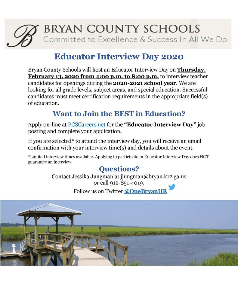 Educator Interview Day 2020