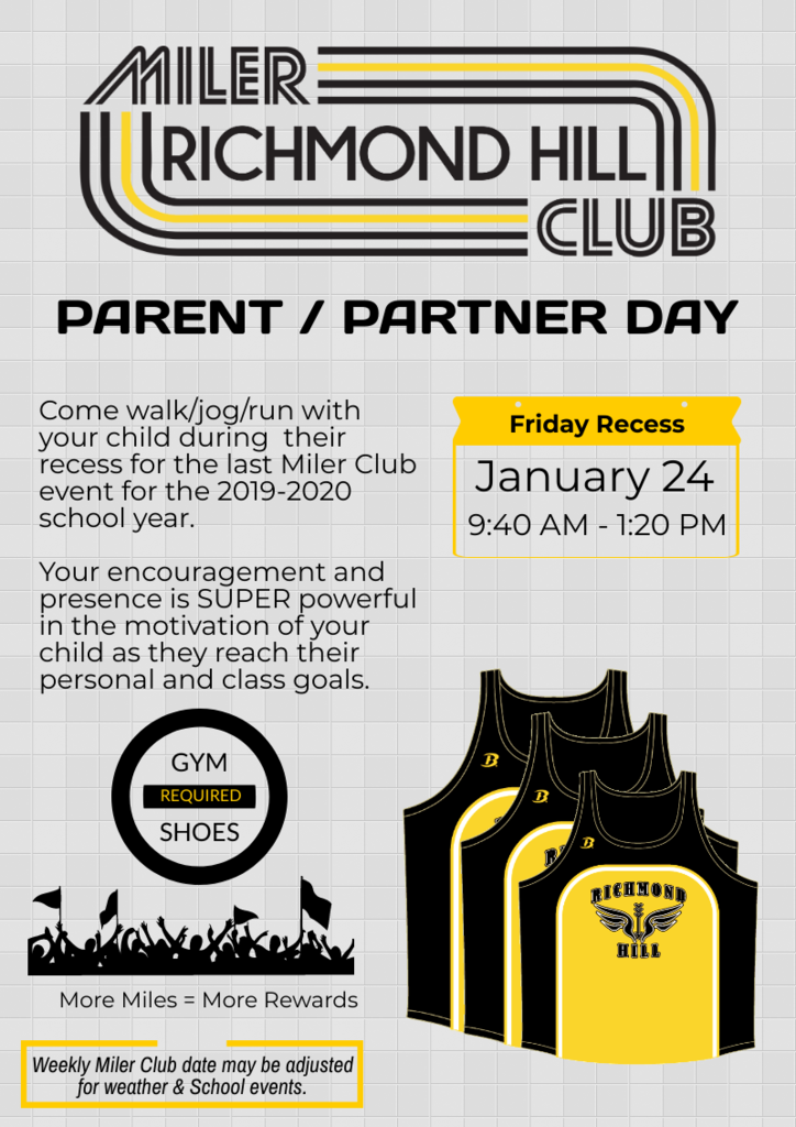 Miler Club - Parent Day