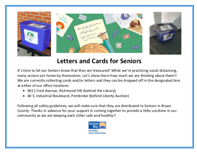 United Way - Letters for Seniors