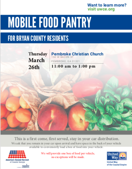 Mobile Food Pantry - Pembroke Christian Church Today
