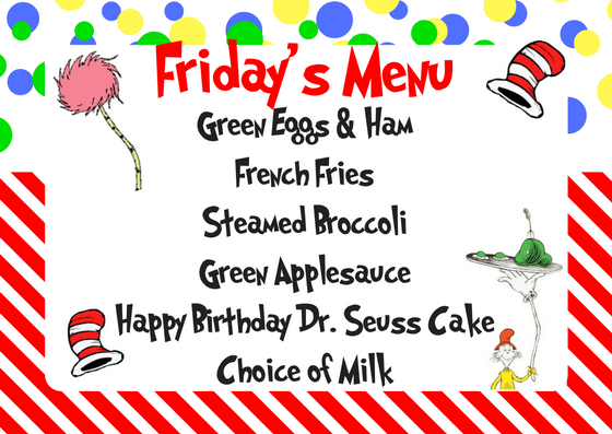 Seuss Lunch