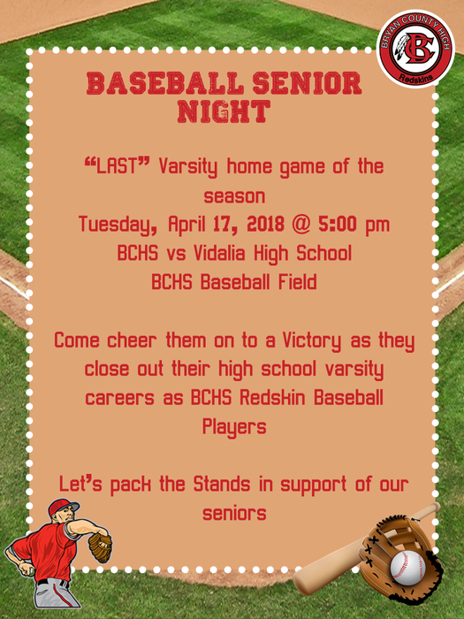 baseball sr night